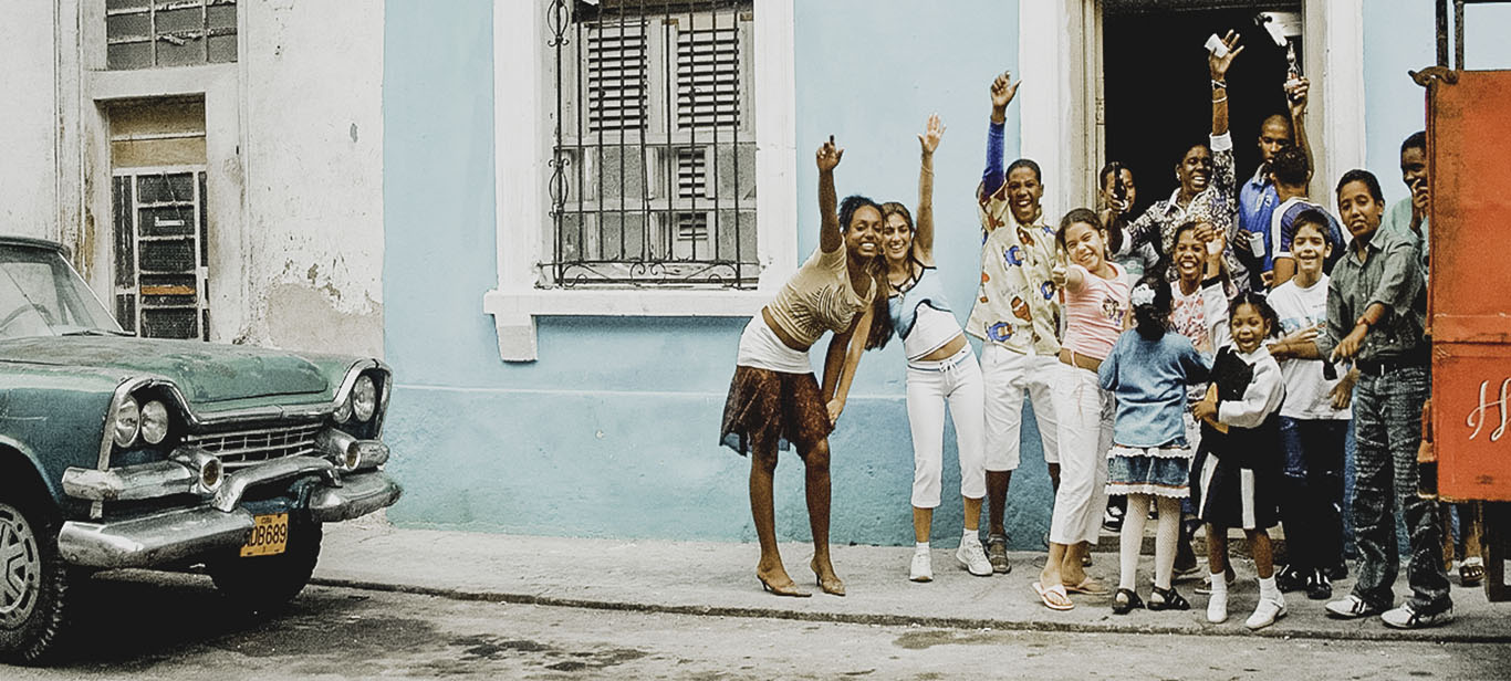 Cuban family at a casa particular